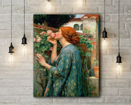 John William Waterhouse: The Soul of the Rose. Fine Art Canvas.